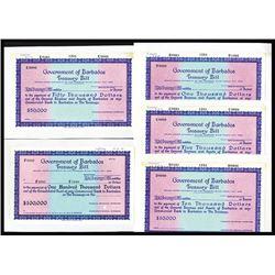 Government of Barbados Treasury Bill Proofs.