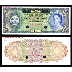 Government of Belize 1974-76 Issue Color Trial Banknote.