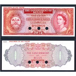Government of Belize 1974-76 Issue Possible Color Trial Banknote.