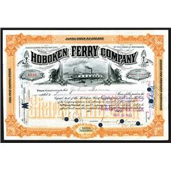 Emanuel Lehman Signed Hoboken Ferry Co., 1897 Stock Certificate.