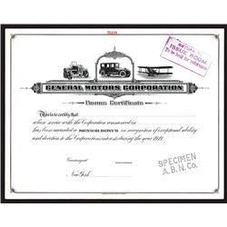 General Motors Corporation Bonus Certificate.