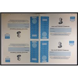 Walt Disney Company Proof Sheet of 4