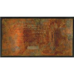 Norbury, Natzio & Co. Ltd. Copper intaglio printing plate.