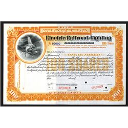 Manila Electric Railroad and Lighting Corp., ND (ca.1900) Specimen Stock Certificate.