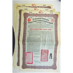Tientsin-Pukow Railway 1908 Coupon Bond