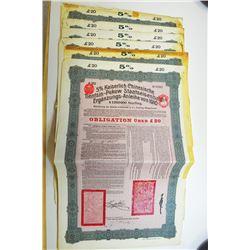 Tientsin-Pukow Railway 1910 Coupon Bond