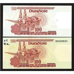 DuraNote Predecessor Polymer Banknote Advertising Note Specimens.