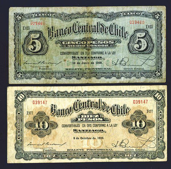 Banco Central De Chile 1928 29 Issue