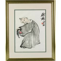 WC Painting on Paper w/Frame Qi Baishi 1864-1957