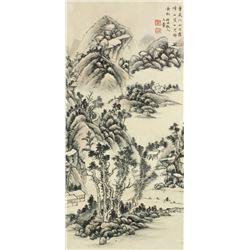 WC Landscape Painting Paper Wang Hui 1632-1717