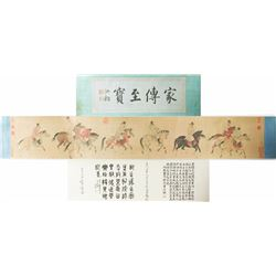 WC Figures Hand Scroll Yao Wenhan