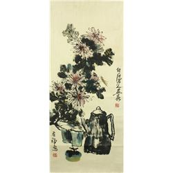 WC Paper Scroll Qi Baishi 1864-1957 & Li Kuchan