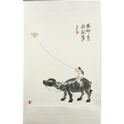 WC Kite Scroll Li Keran 1907-1989