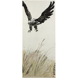 WC Eagle Scroll Xu Beihong 1895-1953
