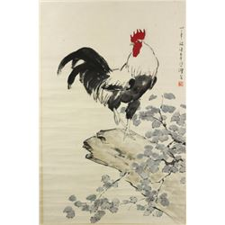 WC Rooster Scroll Xu Beihong 1895-1953