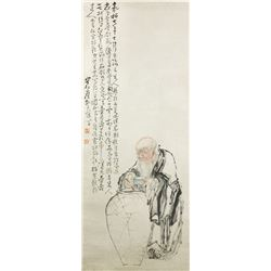 WC Figure Scroll Huang Shen 1687-1772