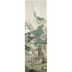WC Figures Scroll Xu Cao 1899-1961