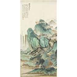 WC Landscape Scroll Wu Hufan 1894-1968