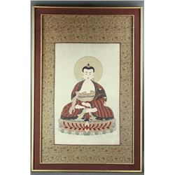 Chinese Hand Embroidery Buddha on Silk