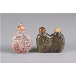Pair of Agate Snuff Bottles
