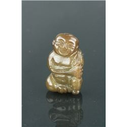 Chinese Hardstone Carved Boy
