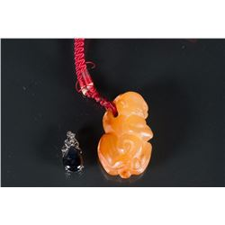 2 Pieces of Chinese Agate Pendants