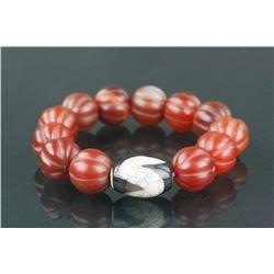 Chinese Tianzhu & Agate Bracelet