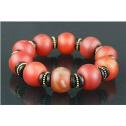 Chinese Red Agate Bracelet