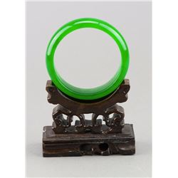 Chinese Emerald Green Hardstone Bangle