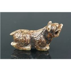 Chinese Old Jade Carved Tiger