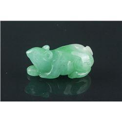 Chinese Green Jadeite Toggle