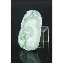 Chinese Green Jadeite Pendant w/Cert
