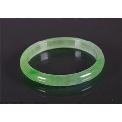 Chinese Translucent Green Jadeite Bangle