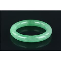 Fine Chinese Carved Apple Green Jadeite Bangle