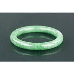 Chinese Grade A Green Jadeite Bangle w/Cert