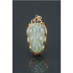 Chinese 18K Grade A Icy Jadeite Pendant Cert