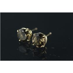 10kt Gold Smokey Topaz Earrings Retail $300