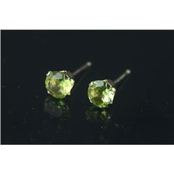 10kt Gold Peridot Earrings Appraised $563