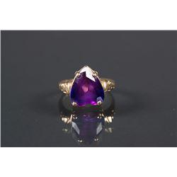 Chinese Purple Sapphire 14k Gold Ring