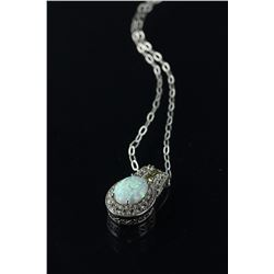 Sterling Silver Opal Pendant Necklace CRV $550