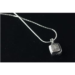 Sterling Silver Diamond Pendant Necklace CRV $610
