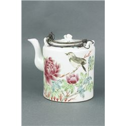 Famille Rose Porcelain Teapot w/Cover Tongzhi MK