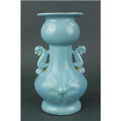Chinese Green Jun Yao Style Porcelain Vase