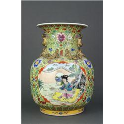 Chinese Large Famille Rose Porcelain Vase Xianfeng