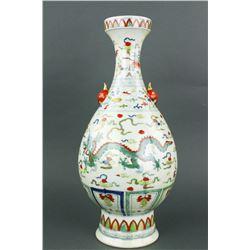 Chinese Wucai Dragon Porcelain Vase Chenghua MK