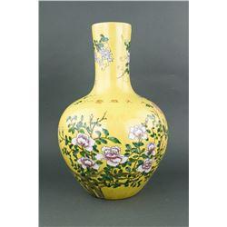 Chinese Dayazhai Porcelain Vase Yongqing Changchun