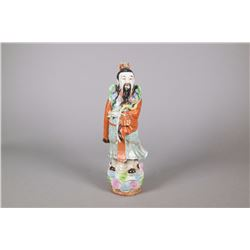 Chinese Qing Period Porcelain Fu Figure