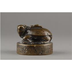 Chinese 18th/19thC Bronze Archaistic Turtle Seal