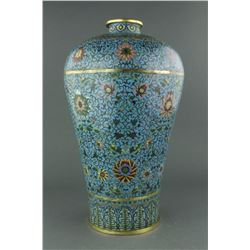 Chinese Fine Gilt Bronze Craved Cloisonne Vase