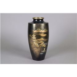 Japanese Lacquer Bronze Vase